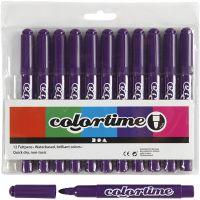 Colortime stift, lijndikte 5 mm, paars, 12 stuk/ 1 doos