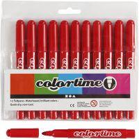 Colortime stift, lijndikte 5 mm, rood, 12 stuk/ 1 doos