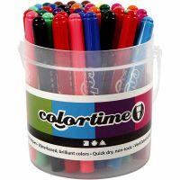 Colortime stift, lijndikte 5 mm, diverse kleuren, 42 stuk/ 1 doos