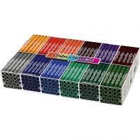 Colortime stift, lijndikte 5 mm, extra kleuren, 12x24 stuk/ 1 doos