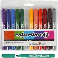 Colortime stift, lijndikte 5 mm, extra kleuren, 12 stuk/ 1 doos