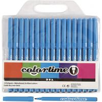 Colortime stift, lijndikte 2 mm, lichtblauw, 18 stuk/ 1 doos