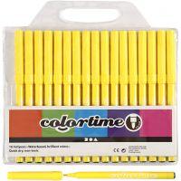 Colortime stift, lijndikte 2 mm, citroengeel, 18 stuk/ 1 doos