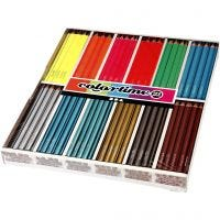 Colortime kleurpotloden, L: 17,45 cm, vulling 4 mm, 144 stuk/ 1 doos