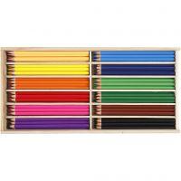 Kleurpotloden, vulling 3 mm, diverse kleuren, 144 stuk/ 1 doos