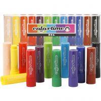 Soft Color Stick, L: 8 cm, diverse kleuren, 12 stuk/ 1 doos