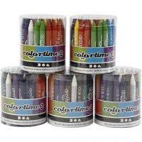 Colortime kleurkrijt, 5x48 div/ 1 set