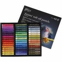 Gallery Oliepastel Premium, L: 7 cm, dikte 10 mm, diverse kleuren, 48 stuk/ 1 doos