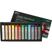 Gallery Soft Pastel Set, L: 6,5 cm, dikte 10 mm, diverse kleuren, 12 stuk/ 1 doos