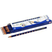 Groove grafiet potloden, d: 7,2 mm, hardheid HB, vulling 3,3 mm, 12 stuk/ 1 doos