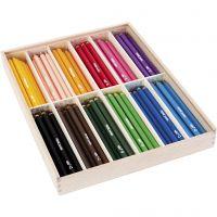Edu Jumbo kleurpotlood, dikte 10 mm, vulling 6,25 mm, diverse kleuren, 12x12 stuk/ 1 doos