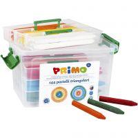 PRIMO wax krijtjes, diverse kleuren, 12x12 stuk/ 1 doos
