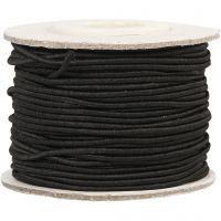 Elastiek, dikte 1 mm, zwart, 25 m/ 1 rol