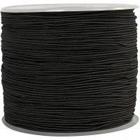 Elastiek, dikte 1 mm, zwart, 250 m/ 1 rol