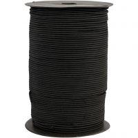 Elastiek, dikte 2 mm, zwart, 250 m/ 1 rol