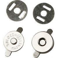 Magnetische sluiting, d: 18 mm, 25 stuk/ 1 doos