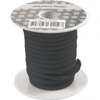 Polyester koord, dikte 4 mm, zwart, 5 m/ 1 rol