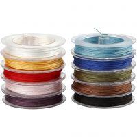 Polyester koord, dikte 1 mm, diverse kleuren, 10x50 m/ 1 doos