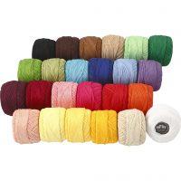 Mercerised katoengaren, diverse kleuren, 24x20 gr/ 1 doos