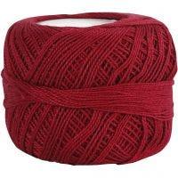 Mercerised katoengaren, antiek rood, 20 gr/ 1 bol