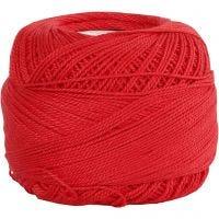 Mercerised katoengaren, rood, 20 gr/ 1 bol