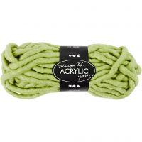 XL garen van acryl, L: 17 m, afm manga , lime groen, 200 gr/ 1 bol