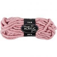 XL garen van acryl, L: 17 m, afm manga , roze, 200 gr/ 1 bol
