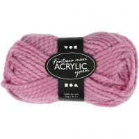 Pelote de laine acrylique Fantasia, L: 35 m, dim. maxi , rose, 50 gr/ 1 boule