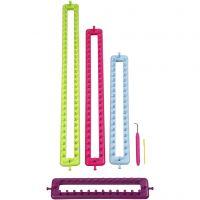 Knitting loom, L: 25-35-45-55 cm, 1 set