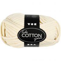 Textielgaren, L: 45 m, off-white, 100 gr/ 1 bol