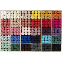 Katoengaren, afm 8/4, L: 170 m, diverse kleuren, 300 bol/ 1 doos