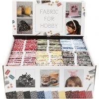Patchwork stof, afm 45x55 cm, 100 gr, diverse kleuren, 48 bol/ 1 doos