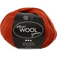 Wolgaren, L: 125 m, rust red, 100 gr/ 1 bol