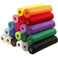Hobbyvilt, B: 45 cm, dikte 1,5 mm, 180-200 gr, diverse kleuren, 20x5 m/ 1 doos