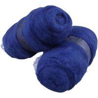 Gekaarde wol, koningsblauw, 2x100 gr/ 1 doos