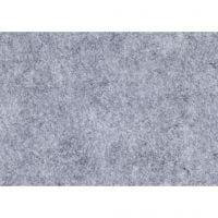 Feutrine synthétique, A4, 210x297 mm, ép. 1,5-2 mm, texturé, gris, 10 flles/ 1 Pq.