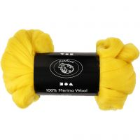 Merino wol, dikte 21 my, sun yellow, 100 gr/ 1 doos