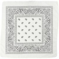 Bandana, afm 55x55 cm, wit, 1 stuk