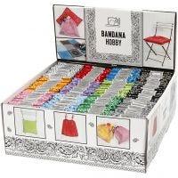 Bandana, diverse kleuren, 144 stuk/ 1 doos