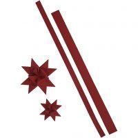 Sterstroken, L: 44+78 cm, B: 15+25 mm, 350 gr, rood, 24 stroken/ 1 doos