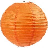 Rijstpapier lamp, d: 20 cm, oranje, 1 stuk