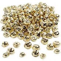 Belletjes, d: 13+15+17 mm, goud, 220 div/ 1 doos