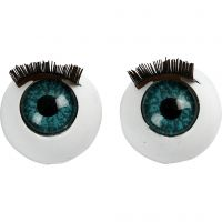 Grote ogen, afm 12 mm, 6 stuk/ 1 doos