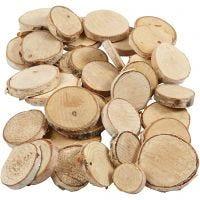 Hout mix, d: 25-45 mm, dikte 7 mm, 600 gr/ 1 doos