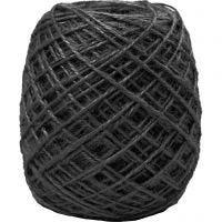 Natuurlijk hennep, dikte 1-2 mm, zwart, 150 m/ 1 rol