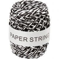 Papierkoord, dikte 1 mm, zwart/wit, 50 m/ 1 rol