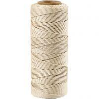 Fil de bambou, ép. 1 mm, blanc cassé, 65 m/ 1 rouleau