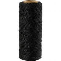 Bamboekoord, dikte 1 mm, zwart, 65 m/ 1 rol