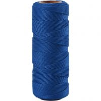 Fil de bambou, ép. 1 mm, bleu, 65 m/ 1 rouleau