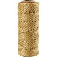 Bamboekoord, dikte 1 mm, goud, 65 m/ 1 rol